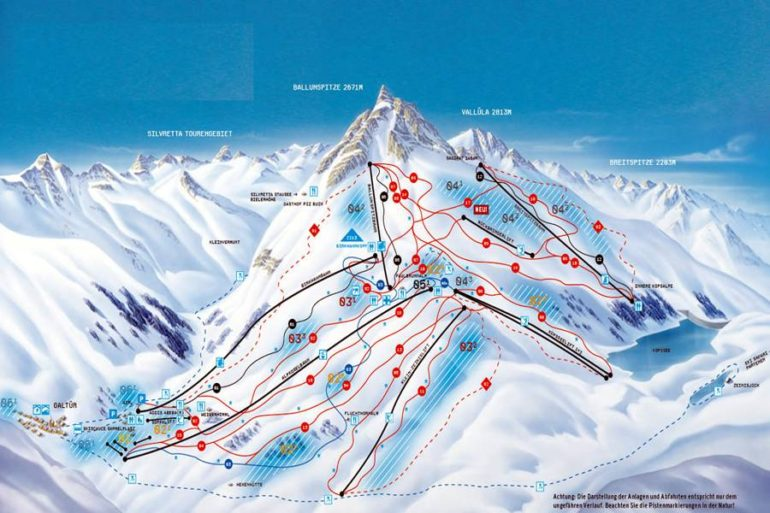 карта спусков Гальтюр