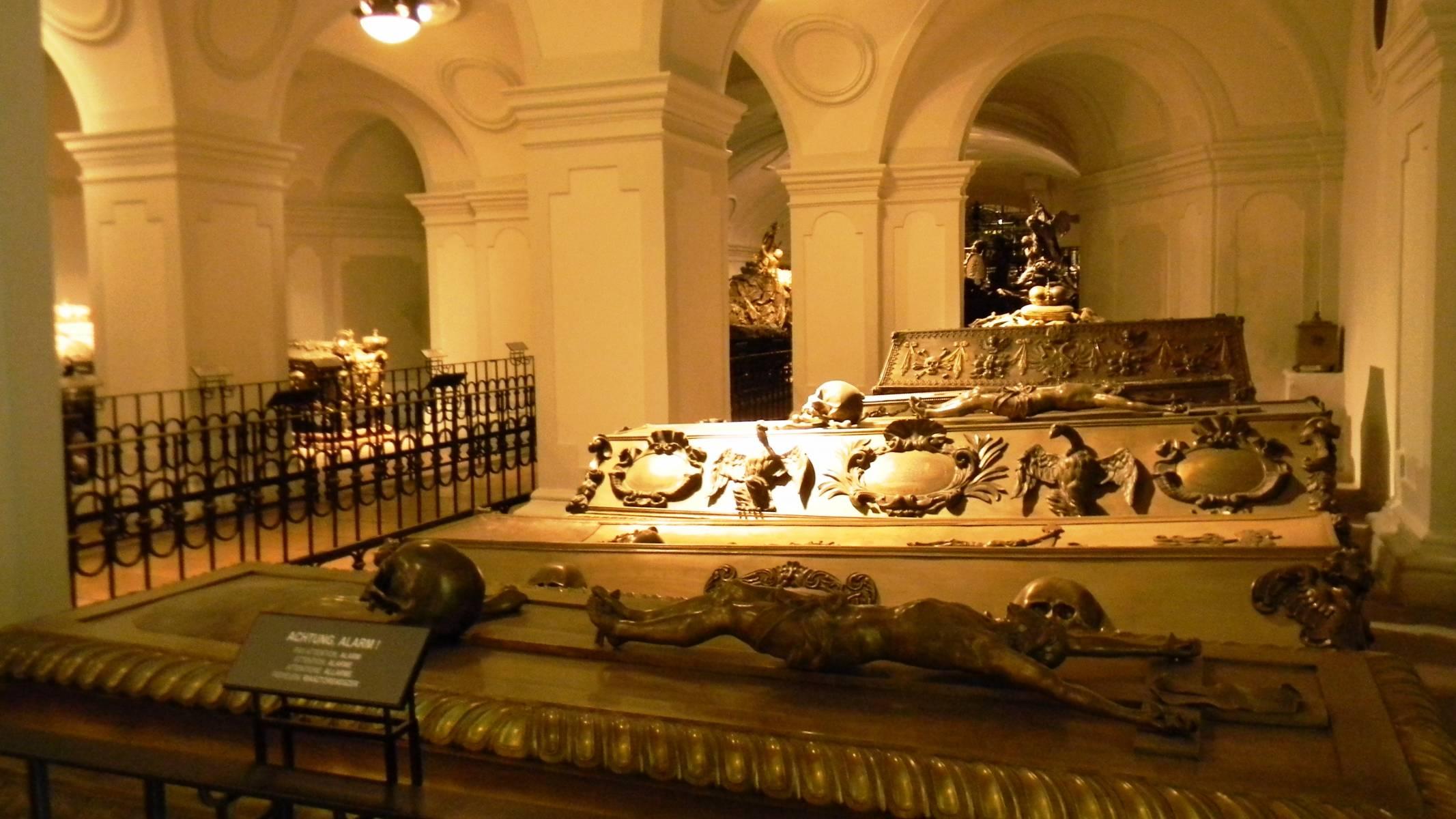 катакомбы в соборе Святого Штефана