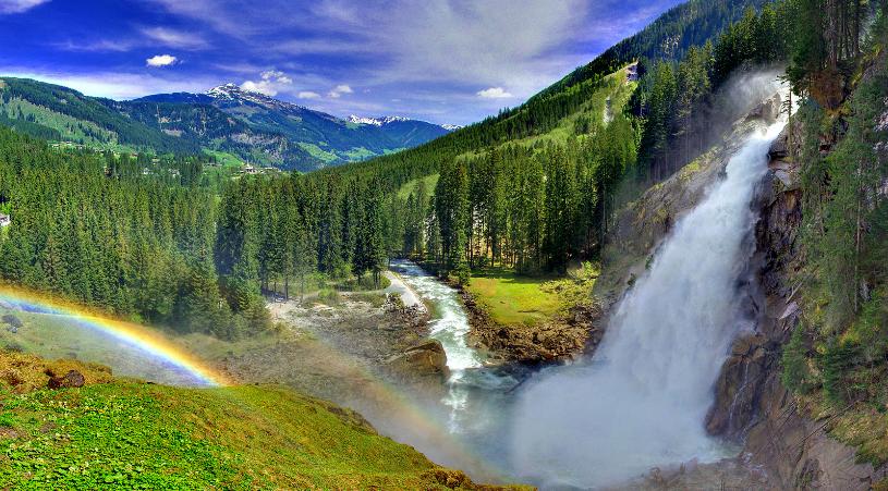 криммль водопад возле целль ам зее