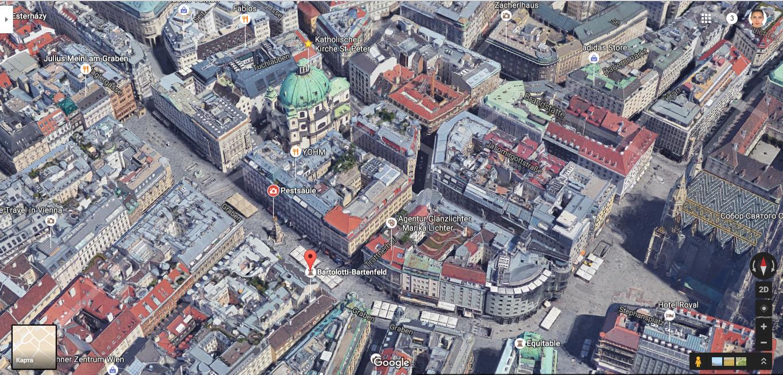 карта улицы грабен, Вена