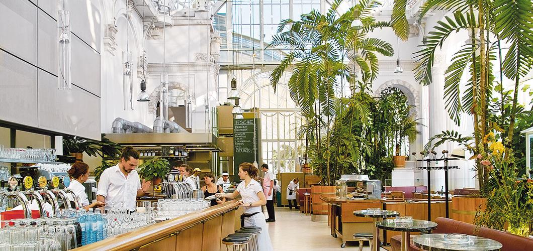 ресторан в центре вены бабочки пальменхауз