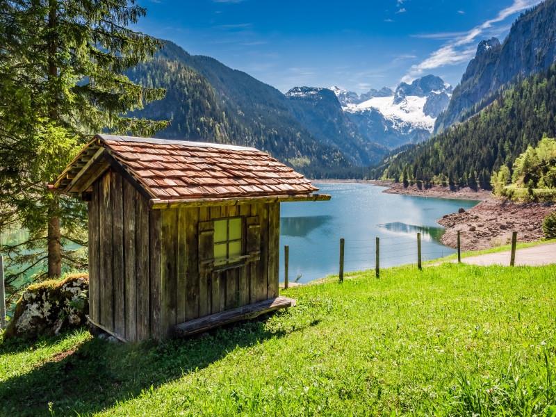 озера летом в Австрии