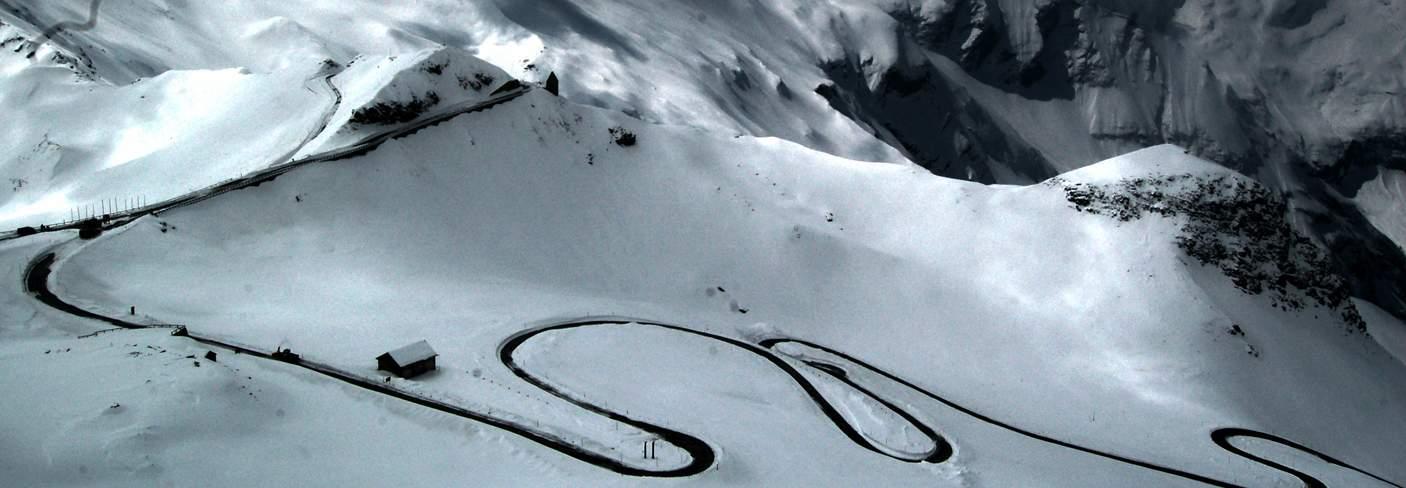 Австрия гроссглокнер высокогорная дорога