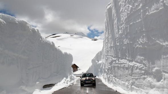 высокогорная дорога Австрии тиммелсйох