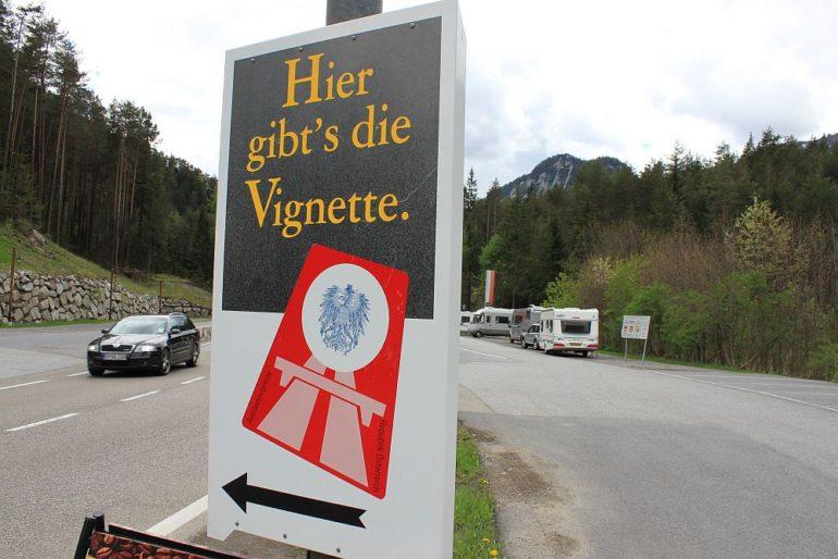 В Австрию на машине Виньетка