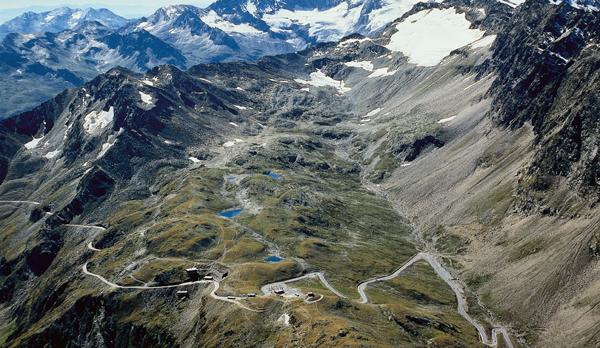 высокогорная дорога в австрии тиммельйох