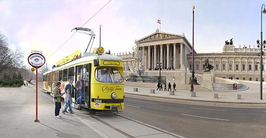 Экскурсионный трамвай в Вене