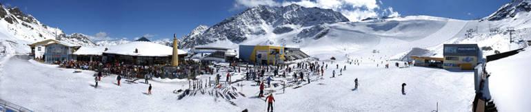 Зельден горнолыжный курорт в Тироле