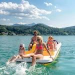 Отдых в Австрии летом на теплых озерах. Озеро Клопайнерзее, Каринтия