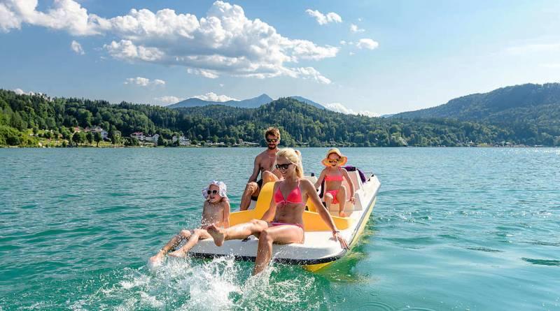 клопайнерзее лето озеро австрия