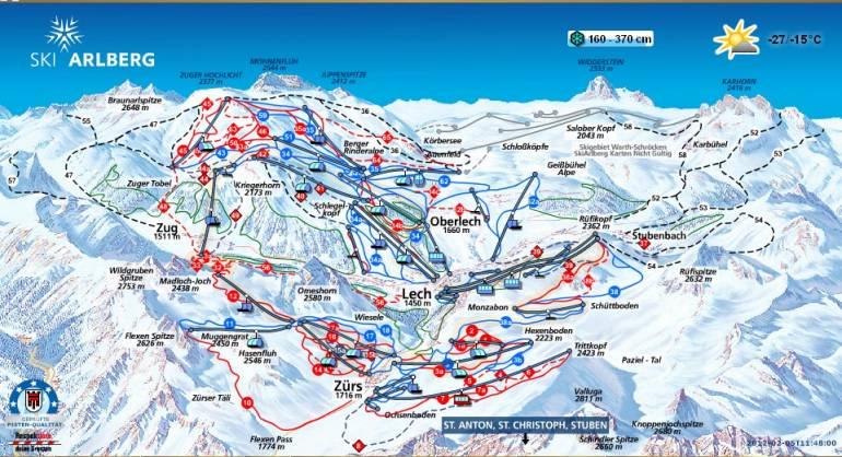 Карта трасс(склонов) Лех