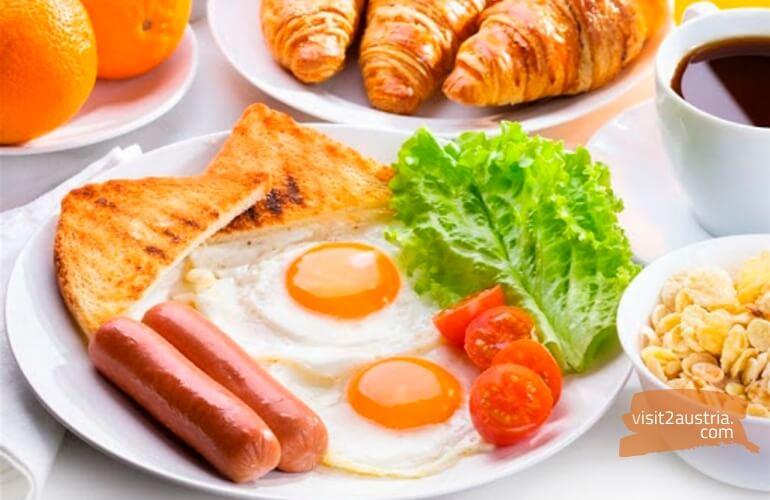 Завтрак в отеле Вены