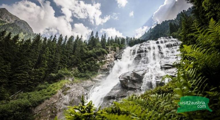 Водопад Грава в Тироле
