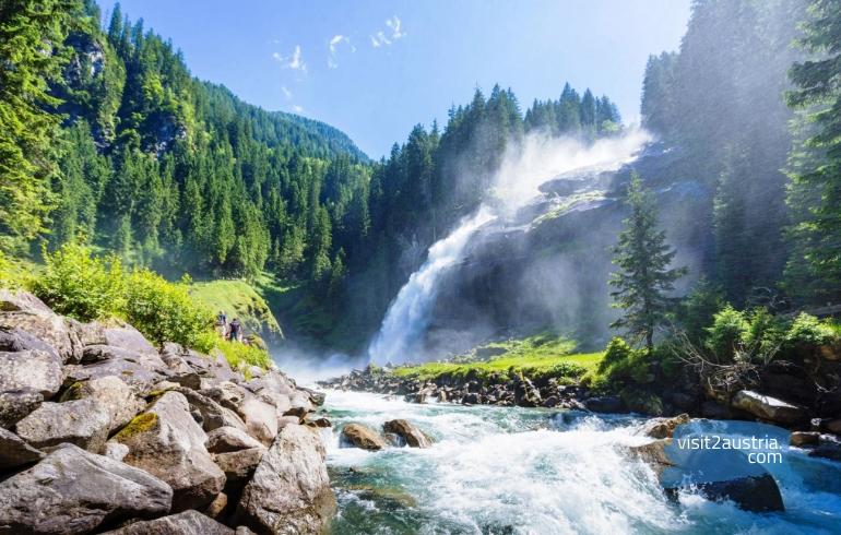 Водопад Криммль Австрия Тироль