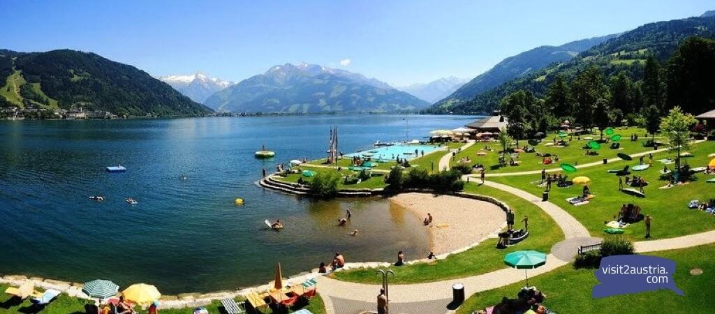 Озеро Целль ам Зее земля Зальцбург Австрия