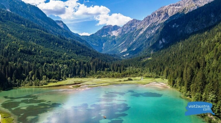 Достопримечательности земли Зальцбург в Австрии - озеро Ягерзее (Jägersee)