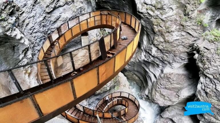 Достопримечательности земли Зальцбург -Лихтенштейнское ущелье Liechtensteinklamm