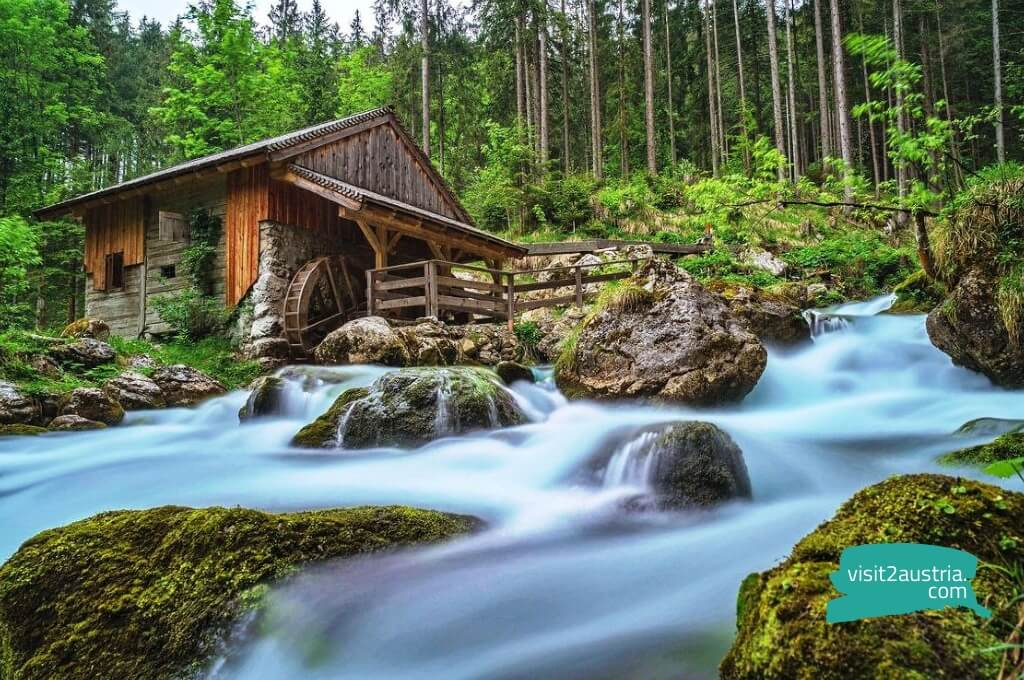 Достопримечательности земли Зальцбург -Водопад Голлингер