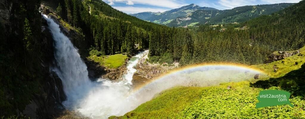 Достопримечательности земли Зальцбург водопад Криммль